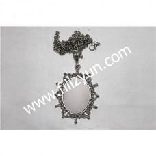 Kanaviçe Kolye Gümüş No 021