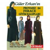 Güler Erkan 28 Model 34-52 Beden Ferace Giyim Kalıpları
