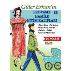Güler Erkan 24 Model 34-44 Beden Hamile Giyim Kalıpları